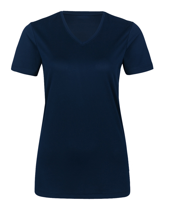 Damen V-Shirt Coolmax® 187